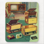 Televisiones estéreas de alta fidelidad del kitsch alfombrillas de ratones