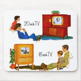 Televisiones retras del kitsch 50s del vintage 19 alfombrillas de ratones