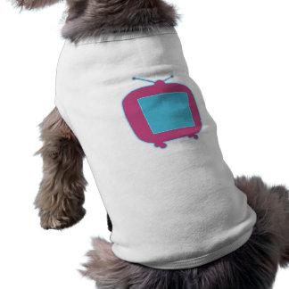 Televisor reclamo de neón tv neon sign playera sin mangas para perro