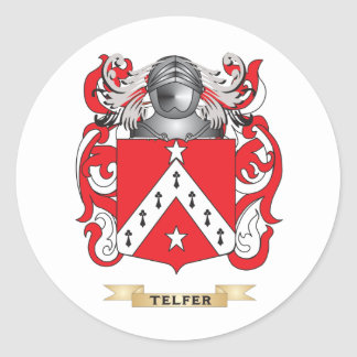 Telfer Family Crest (Coat of Arms) Classic Round Sticker