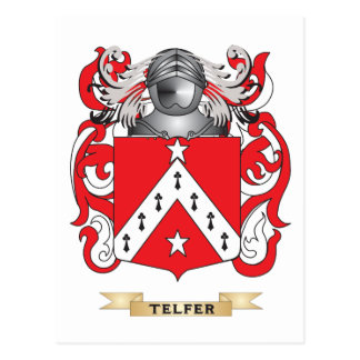 Telfer Family Crest (Coat of Arms) Postcards