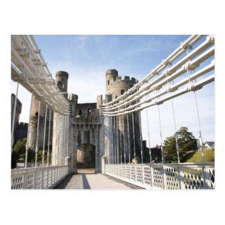 Telfords Suspension bridge. Postcard