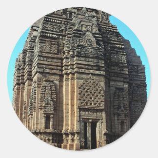 Telika Mandir, Madhya Pradesh, la India Pegatina Redonda