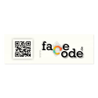 tell A facecode.de Mini Business Card