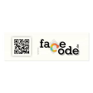 tell a facecode.de tarjetas de visita