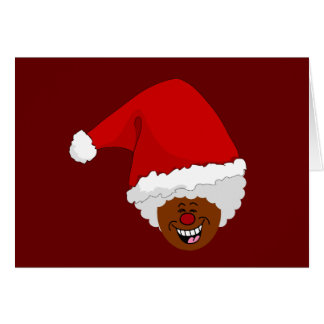 Tell Black Santa What You Want for Christmas Card