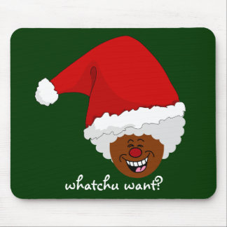 Tell Black Santa What You Want for Christmas Mouse Pad