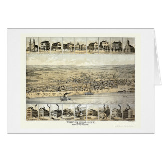 Tell City, IN Panoramic Map - 1870's Card