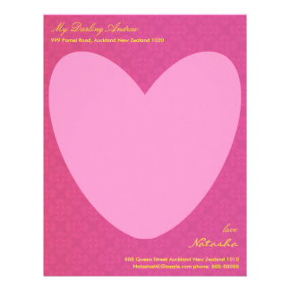 Tell him through your heart letter head letterhead