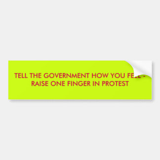 Tell How You Feel Bumper Sticker