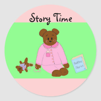 Tell Me A Story Classic Round Sticker