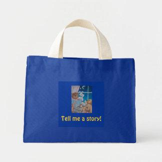 Tell me a story! mini tote bag