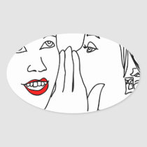 secret, secrets, girls, young, woman, tell, say, art, modern, gift, minimalism, friends, private, Sticker with custom graphic design
