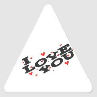 Tell someone you love them - Customisable Triangle Stickers