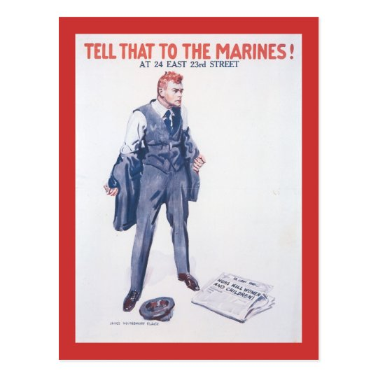 Tell That To World War 2 Postcard