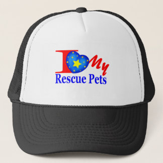 """Tell The World"" I Love My Rescue Pets Trucker Hat"