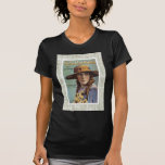 Tell The World Vintage Woman Daisy Sheet Music T-Shirt