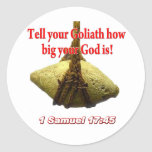 Tell Your Goliath... Classic Round Sticker