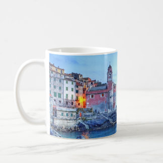 """Tellaro, Italy, """"For me optimism is two lovers ... Coffee Mugs"""