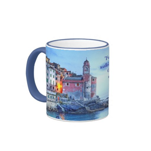"""Tellaro, Italy, """"For me optimism is two lovers ... Mugs"""