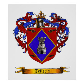 Telleria (de Legazpia) Shield of Arms Poster
