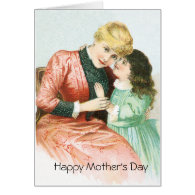 Telling Mother a Secret Greeting Card