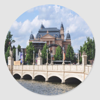 Telling the story of peace and joy Schwerin Classic Round Sticker