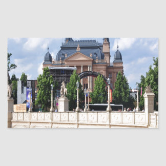 Telling the story of peace and joy Schwerin Rectangular Sticker