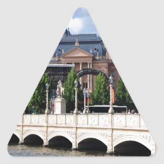 Telling the story of peace and joy Schwerin Triangle Sticker