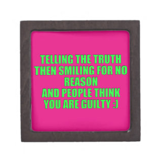 TELLING THE TRUTH LAUGHING LOOK GUILTY HUMOR COMME PREMIUM GIFT BOX