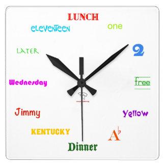 Telling Time-White Square Square Wall Clocks