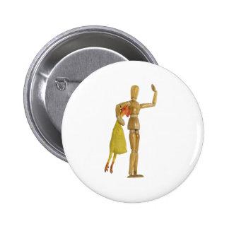 TellingAJoke110709 copy Pinback Buttons