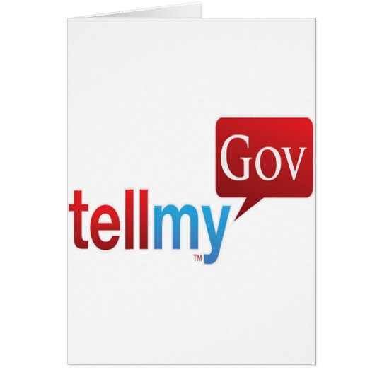 TellMyGov Products Please support our efforts Card