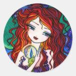 """""""Tellulah's Treasures"""" Mermaid Fantasy Fairy Classic Round Sticker"""