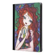 Tellulah's Treasures Red Head Mermaid Fantasy Art iPad Case