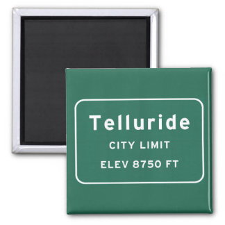 Telluride Colorado co Interstate Highway Freeway : 2 Inch Square Magnet