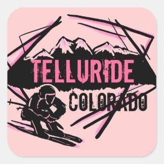Telluride Colorado ski pink mountain stickers