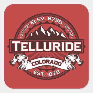 Telluride Red Square Sticker