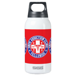 Telluride Snow Addiction Clinic 10 Oz Insulated SIGG Thermos Water Bottle