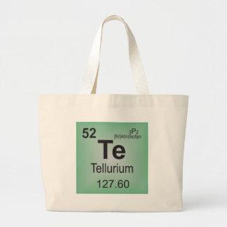 Tellurium Individual Element of the Periodic Table Canvas Bag