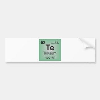 Tellurium Individual Element of the Periodic Table Bumper Stickers