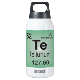 Tellurium Individual Element of the Periodic Table Insulated Water Bottle