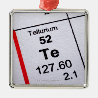 Tellurium molecular formula metal ornament