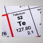 Tellurium molecular formula posters