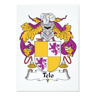 Telo Family Crest Card