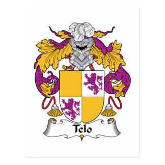 Telo Family Crest Postcard