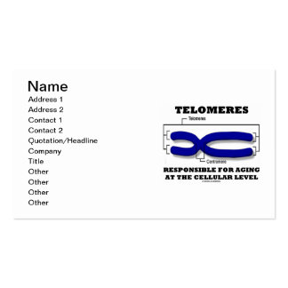 Telomeres responsable del envejecer en el celular tarjetas de visita