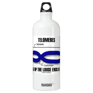 Telomeres Tying Up The Loose Ends Of Life Aluminum Water Bottle