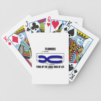 Telomeres Tying Up The Loose Ends Of Life Bicycle Playing Cards