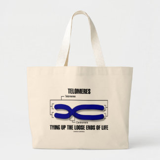 Telomeres Tying Up The Loose Ends Of Life Large Tote Bag